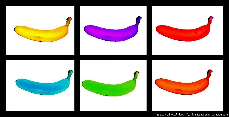 Colored bananas